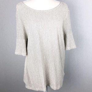 Lauren Conrad Bell Sleeve Top Size Large